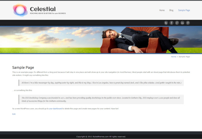 celestial lite theme documentation