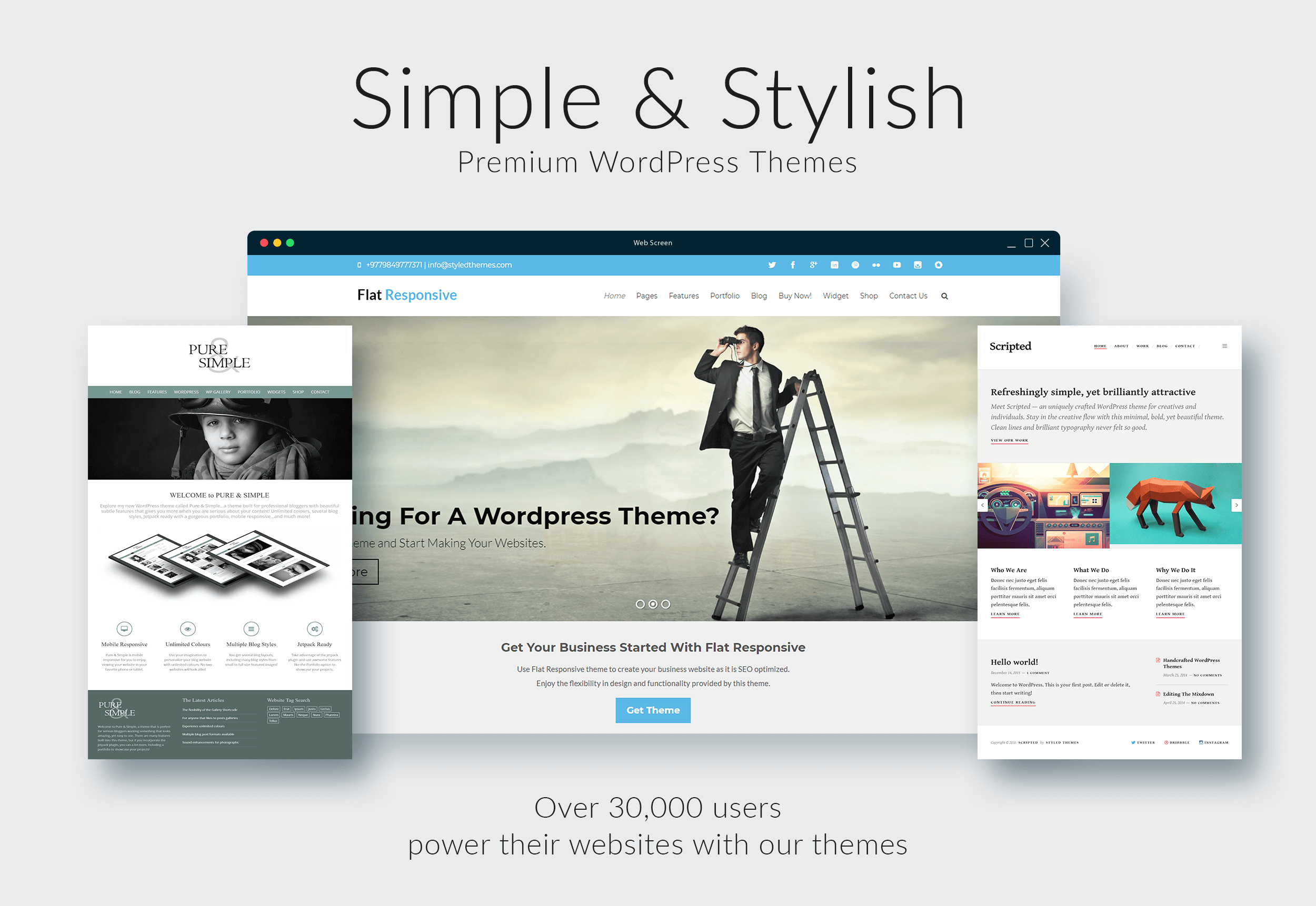 Styled Themes Simple Stylish Premium Wordpress Themes