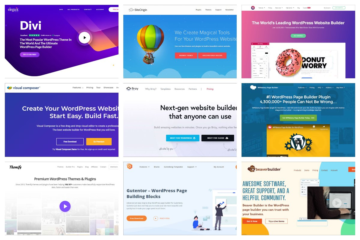 Top 10 Best Drag and Drop Page Builders for WordPress